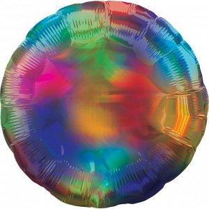 """Шар Ф 18"""" Круг разноцветный 45 см /К"""