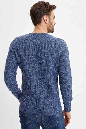 """Пуловер цвета """"джинс"""""""