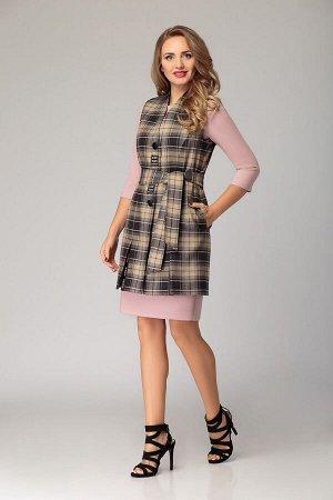 Женский комплект платье и жилет