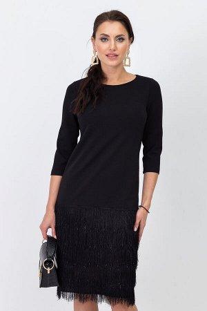 Платье Леди Ламбада (черное) ХИТ П1177-1