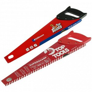 """Ножовка по дереву Top Tools, 450 мм, """"Top Cut"""", 9 TPI, пластиковая рукоятка"""