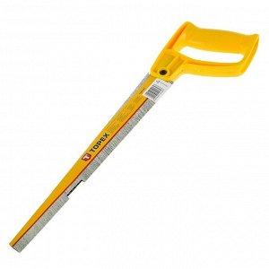 Ножовка TOPEX, выкружная, 300 мм, 9TPI, закаленные зубья, пластмассовая ручка