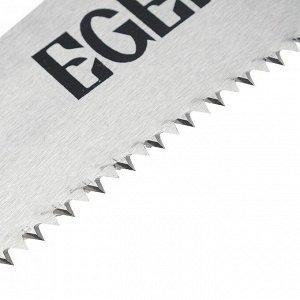 Японская ножовка EGER, косообразная, 380мм, зуб 2D, 7TPI, толщина 1мм, обрезин. рукоятка