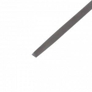 Напильник TUNDRA, для заточки цепей пил, трехгранный, У10, 2К рукоятка, №3, 200 мм