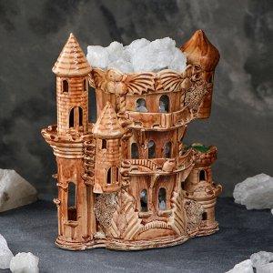 """Соляная лампа """"Замок большой"""", керамическое основание, 28 см, 4-5 кг"""