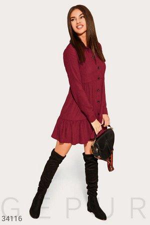 Многоярусное платье-мини