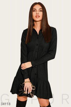 Платье-мини черного цвета