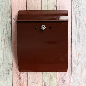 Ящик почтовый с замком, вертикальный, «Сфера», коричневый