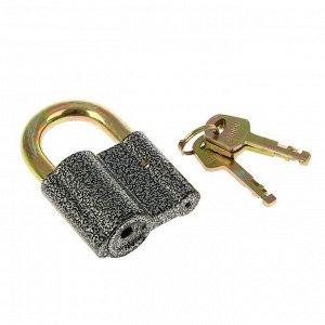 """Замок навесной """"АЛЛЮР"""" ВС2-27С, дужка d=10 мм, 3 ключа, цвет антик"""