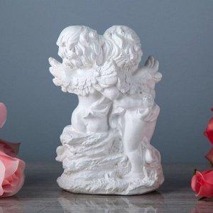 """Статуэтка """"Обнимающиеся ангелы"""", белая, 20 см"""