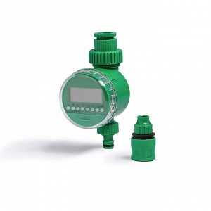 Таймер полива электронный с комплектом коннекторов, пластик