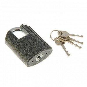 """Замок навесной """"АЛЛЮР"""" ВС2Ч-601, дужка d=10 мм, с закрытой дужкой, 4 ключа, цвет антик"""