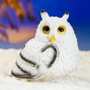 """Садовая фигура """"Совушка малая"""" белая 15х15см"""