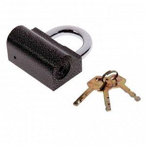 "Замок навесной ""АЛЛЮР"" ВС2-9С, дужка d=12 мм, 3 ключа с двойной нарезкой, цвет антик"