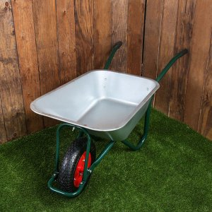 Тачка садово-строительная, одноколёсная: груз/п 180 кг, объём 100 л, пневмоколесо 4.00-8, кузов 0,8 мм