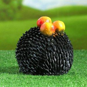 """Садовая фигура """"Еж с яблоками"""" 20х15см"""