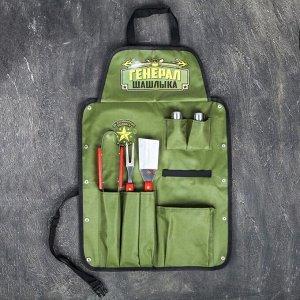 """Фартук """"Генерал шашлыка"""", зеленый, 63 х 43 см"""