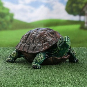 """Садовая фигура """"Черепаха большая"""", зелёный цвет, 14 см"""