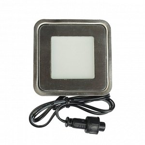 Светильник герметичный квадратный Luazon VSL-013, 0,5 Вт, IP66, 12 В, БЕЛЫЙ