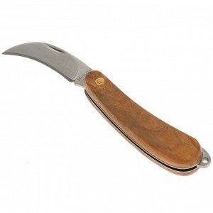 Нож садовый, складной, длина 18 см, лезвие 8 см, пластиковая ручка