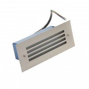 Светильник светодиодный грунтовый вытянутый Luazon 3 Вт,170х70х55 мм,IP65,220В, Т.БЕЛЫЙ