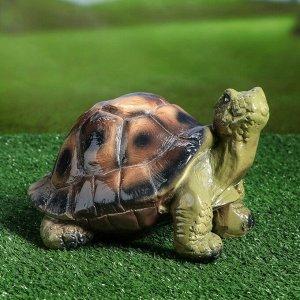 """Садовая фигура """"Черепаха Джулс"""", зелёный цвет, 16 см"""