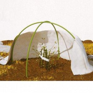 Набор для укрытия растений: иглопробивное полотно 1,6 ? 1,6 м, плотность 200 г/м?, дуга 1,5 м - 2 шт., колышки, клипсы, МИКС