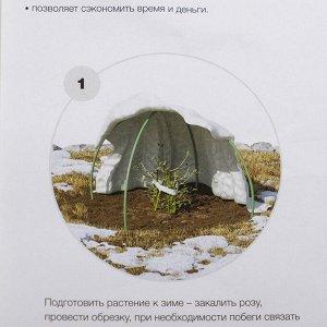 Иглопробивное полотно, 2 ? 2 м, плотность 200 г/м?, для укрытия растений