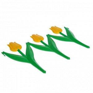 Ограждение декоративное, 30 ? 225 см, 5 секций, пластик, жёлтый цветок, «Тюльпан»