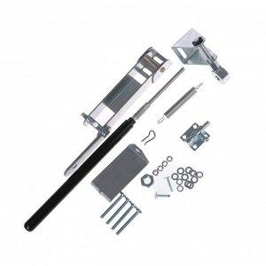Автомат для проветривания теплиц, +17, +25°C, 15 кг, 1 пружина, дверной, горизонтальное открывание, оцинкованная сталь 2 мм, «Сеньор Помидор»