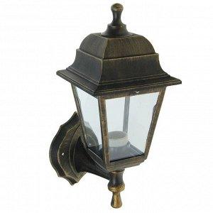 Светильник садово-парковый TDM НБУ 04-60-001, E27, 60 Вт, четырёхгр., настен., под бронзу