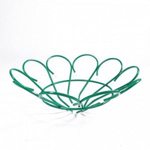 Клумба металлическая, d = 80 см, h = 26 см, зелёная