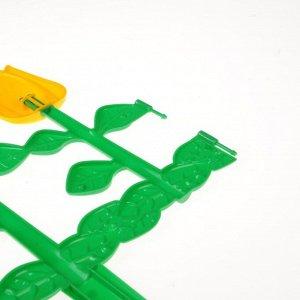 Ограждение декоративное, 30 ? 372 см, 6 секций, пластик, МИКС, «Цветник № 1»