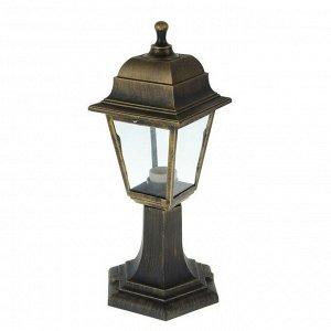Светильник садово-парковый TDM, E27, 60 Вт, четырёхгран., стойка, бронза