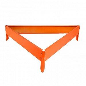 Клумба оцинкованная, 50 ? 15 см, оранжевая «Терция»,Greengo