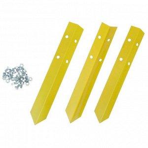 Клумба оцинкованная, d = 140 см, h = 15 см, жёлтая, Greengo