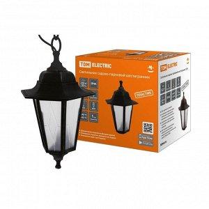 Светильник садово-парковый TDM НСУ 06-60-001, шестигранный, подвесной, пластик, черный