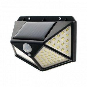 Светильник уличный с датчиком движения, солнечная батарея, 270 градусов, 19 Вт,100 LED,6500К