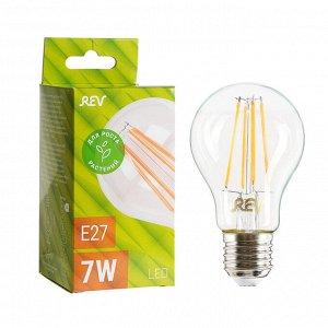 Лампа светодиодная REV LED FILAMENT GARDEN, A60, 7 Вт, Е27, 504 Лм, для растений