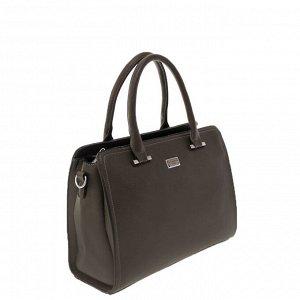 Стильная женская сумочка Frestol_Flo из эко-кожи бутылочного цвета.