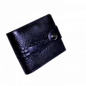 Мужской кошелек Crols_Estole из эко-кожи черного цвета.