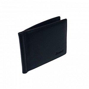 Функциональный кошелек-зажим для денег Walker из натуральной кожи черного цвета.