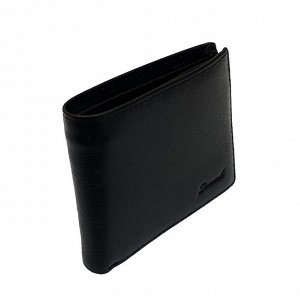 Удобный кошелек Jason с зажимом для купюр из натуральной кожи черного цвета.