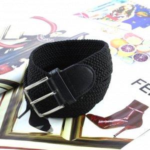 Текстильный плетеный ремень-резинка унисекс Relevant черного цвета, длина 105 см.