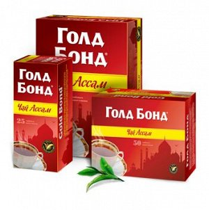 """Чай """"Голд Бонд Ассам"""" 100пак*2гр 1/18"""