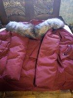Длинная утепленная куртка с капюшоном