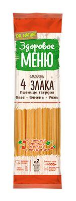 Здоровое меню многозерновые Спагетти 400 г  А в/с