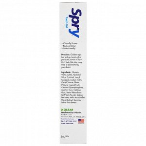 Xlear, Kid&#x27 - s Spry, Tooth Gel, Fluoride-Free, Natural Tropical Fruit, 5 oz (141 g)
