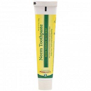 Organix South, TheraNeem Naturals, Лечение на основе нима с мятой, Зубная паста с нимом, 0,7 унций (20 г)