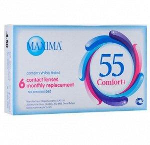 1-мес контактные линзы MAXIMA 55 Comfort Plus 6 линз